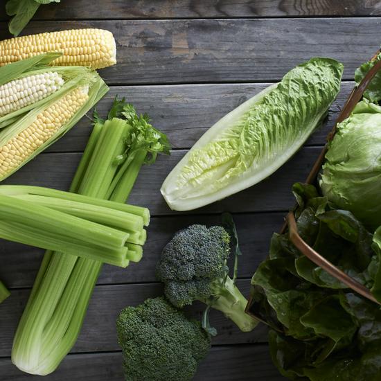 celery, lettuce, and Dandy broccoli