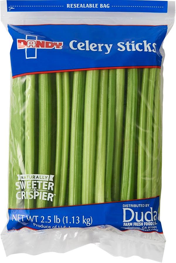 celery sticks 2.5 lb bag