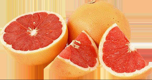 red grapefruits