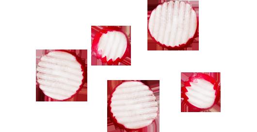 five radish coins