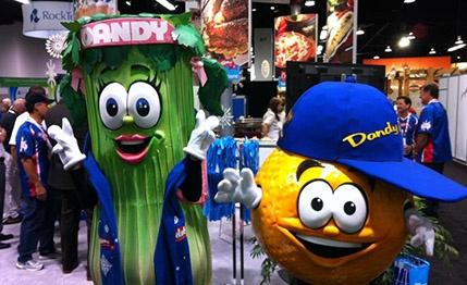 celery and orange mascots