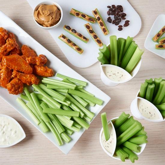 various snacks made with Dandy celery sticks