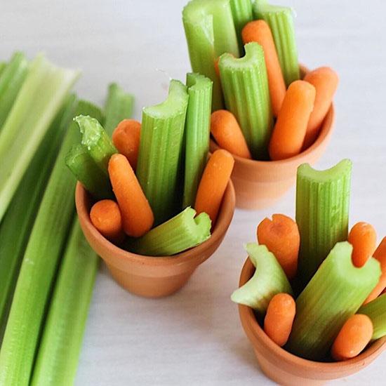 carrot sticks and Dandy celery sticks