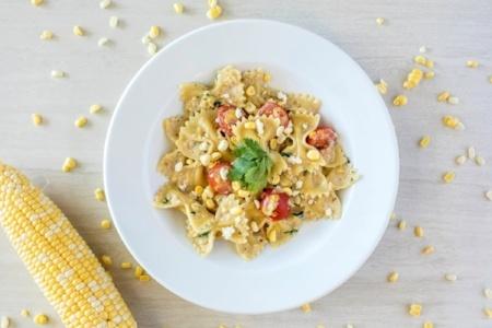 Penne Pasta in Fresh Corn Cilantro Sauce