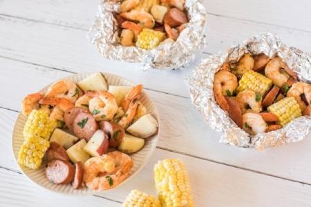 Shrimp Boil Foil Packets