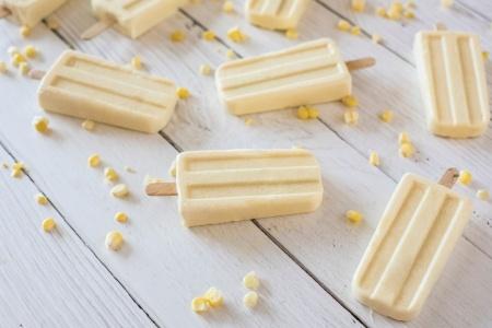 Sweet Corn Ice Cream Pops