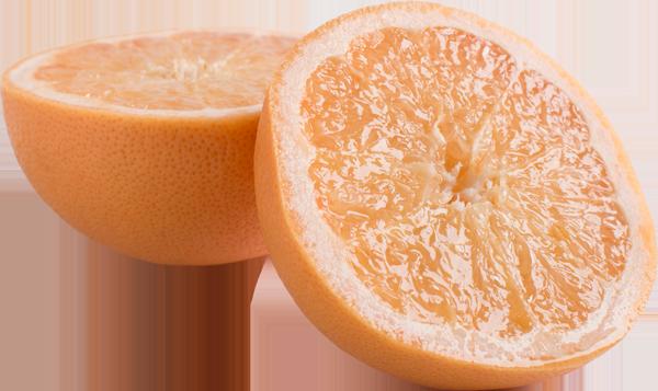 navel orange sliced in half