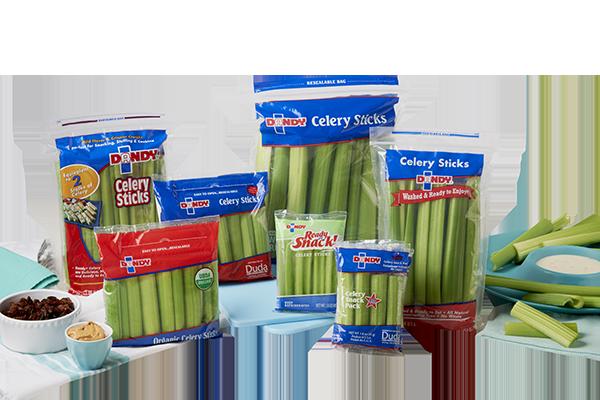 packages of Dandy celery sticks