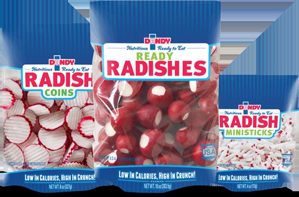 Radish Coins, Ready Radishes, and Radish Ministicks